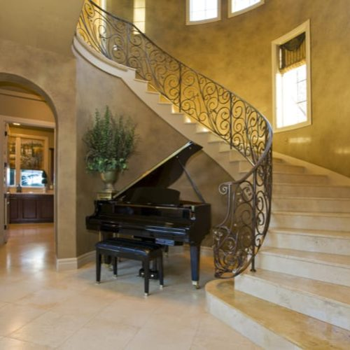 Tuscan style home interior