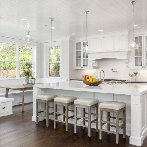 white paint kitchen walls
